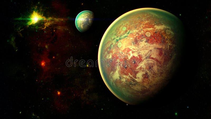 Ruimteplaneet vector illustratie