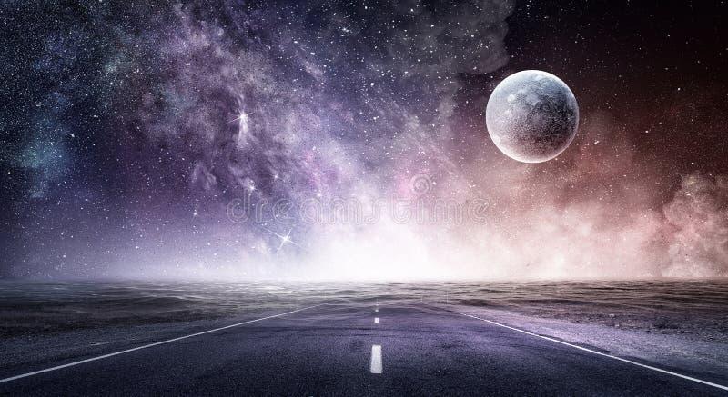 Ruimteplaneten en aard royalty-vrije stock foto