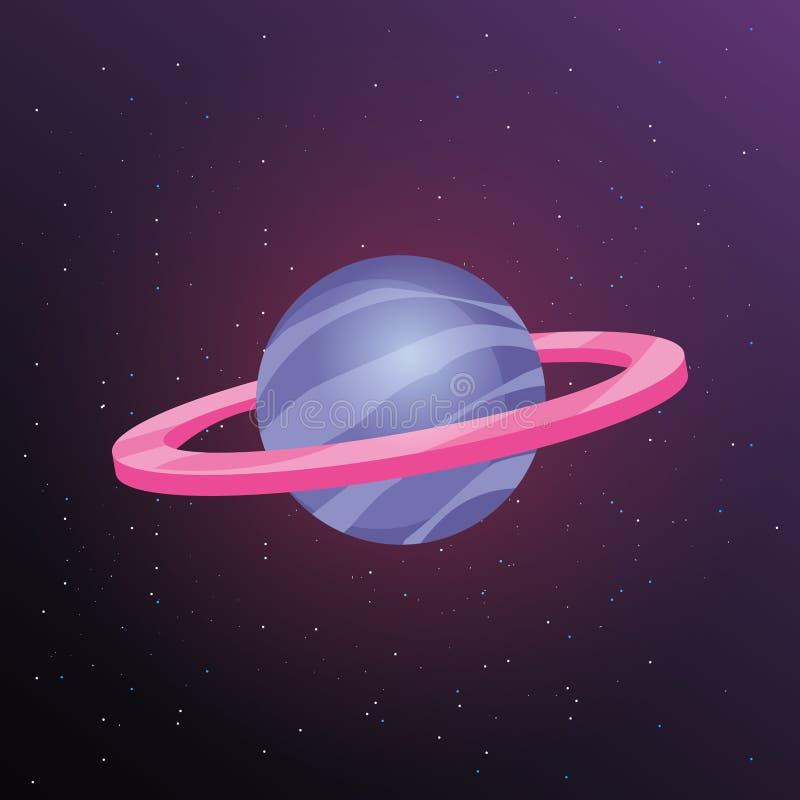 Ruimteplanetenontwerp vector illustratie