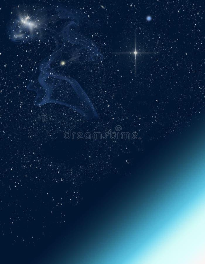 Ruimtescène vector illustratie