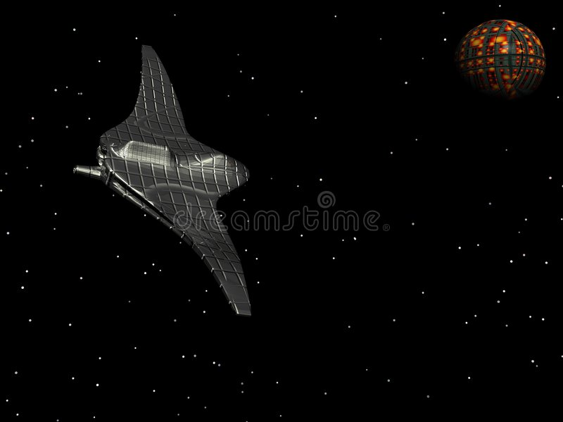 Ruimteschip 5 royalty-vrije illustratie