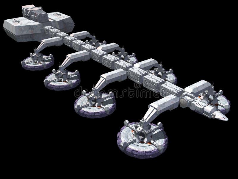 Ruimteschip stock illustratie
