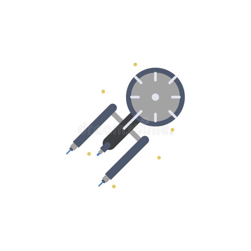 Ruimteschip, science fiction gekleurd pictogram Element van ruimteillustratie Tekens en symbolen het pictogram kan voor Web, mobi stock illustratie