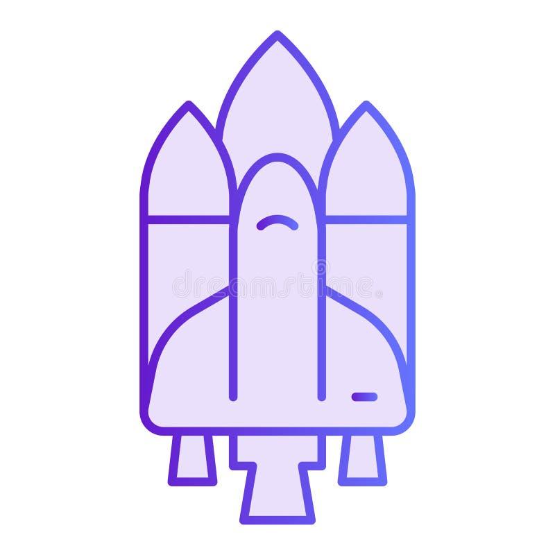 Ruimteschip vlak pictogram Pendel violette pictogrammen in in vlakke stijl De stijlontwerp van de raketgradiënt, voor Web dat en  stock illustratie