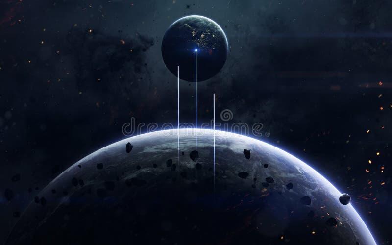 Ruimtescience fictionbeeld Dit die beeldelementen door NASA worden geleverd stock afbeeldingen
