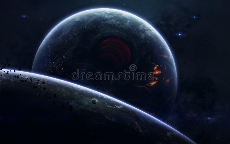 Ruimtescience fictionbeeld Dit die beeldelementen door NASA worden geleverd stock foto