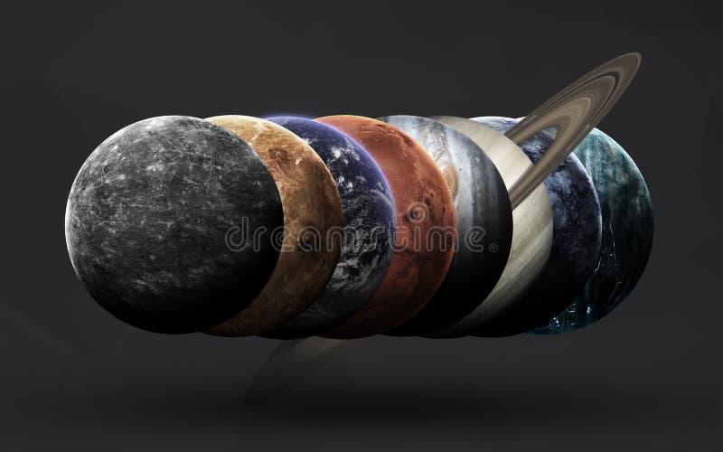 Ruimtescience fictionbeeld Dit die beeldelementen door NASA worden geleverd royalty-vrije illustratie