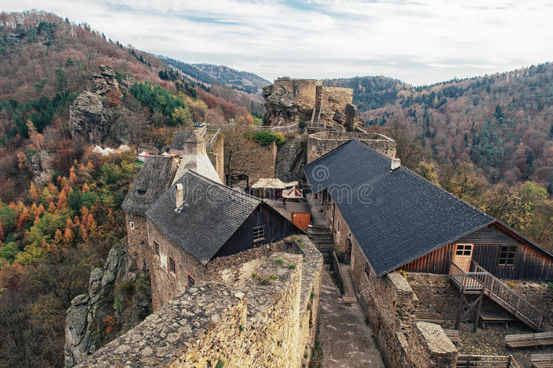 Ruin Aggstein in Lower Austria stock photo