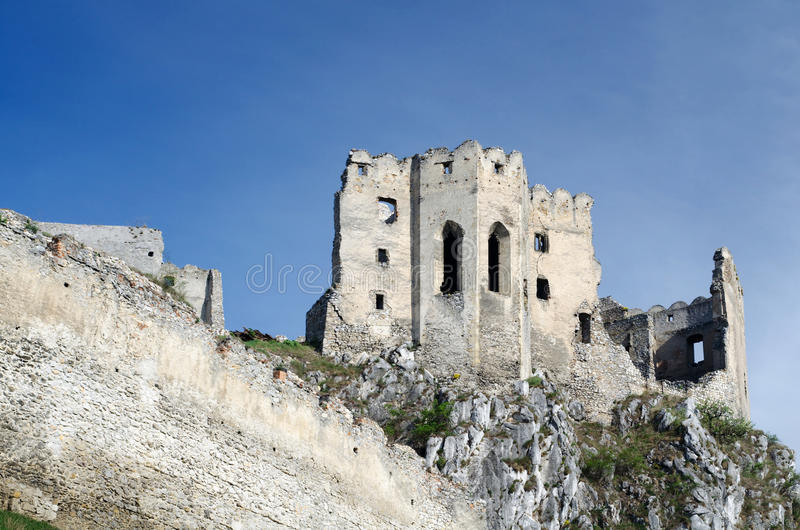 Ruin of Beckov castle royalty free stock photography