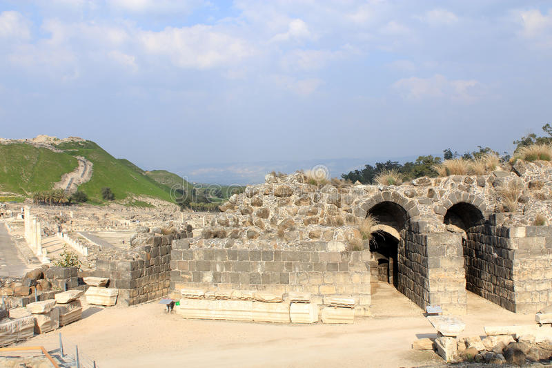 Download Ruin of Beit Shean stock photo. Image of town, shean - 24047276