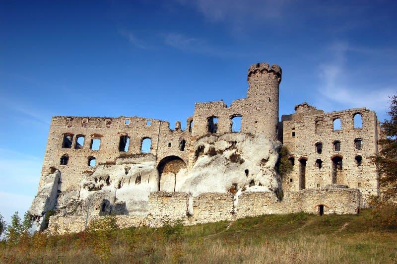 Ruin castle stock image