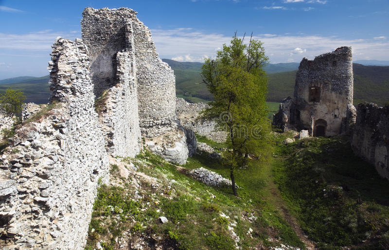 Ruin of castle Gymes stock photography