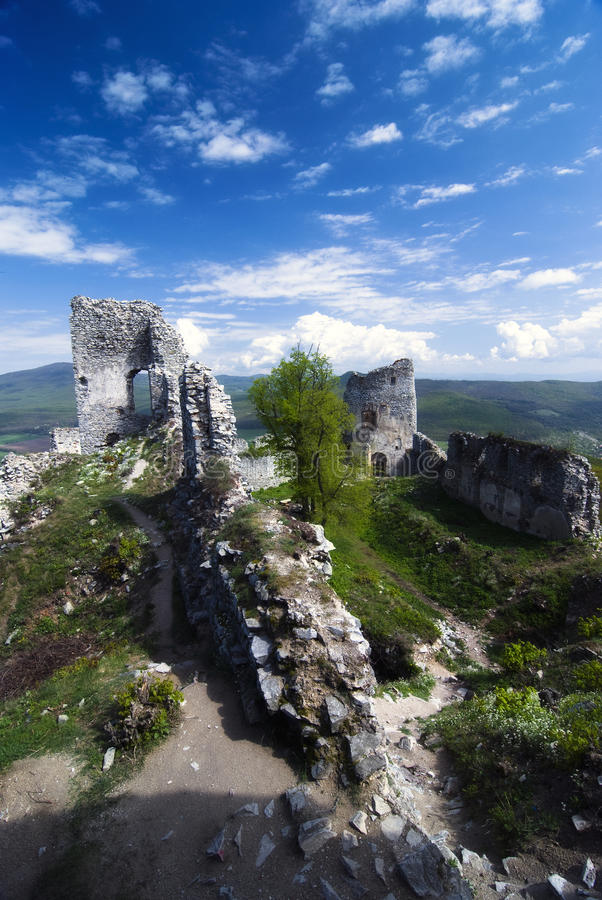 Download Ruin of castle Gymes stock image. Image of medieval, history - 22490507