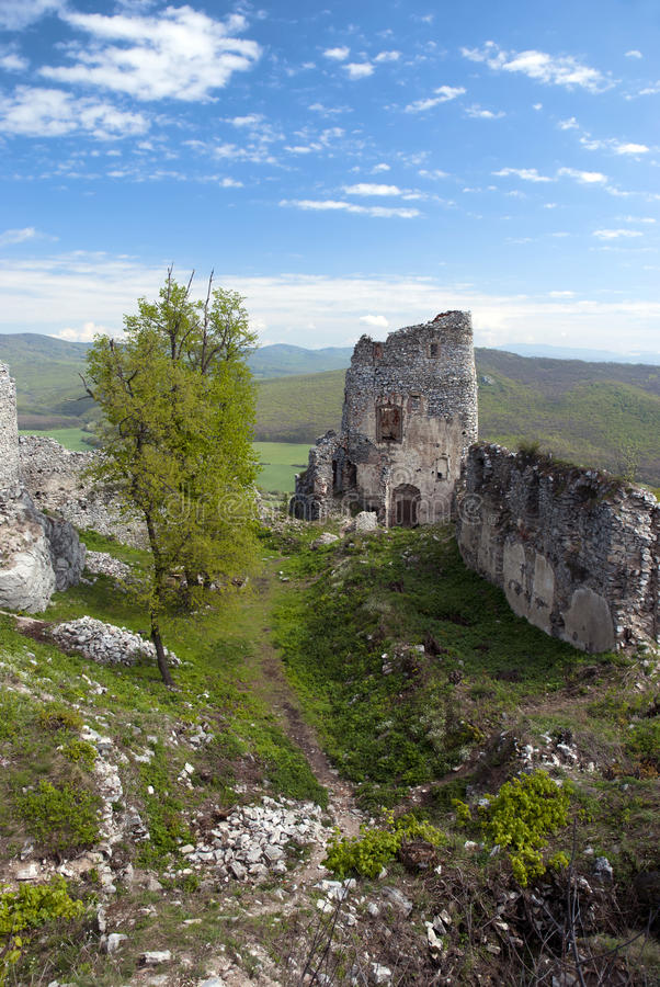 Download Ruin of castle Gymes stock photo. Image of ancient, clouds - 28672810