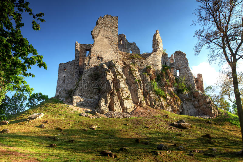 Ruin of Castle Hrusov royalty free stock image