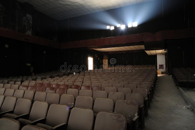 Ruin of cinema stock image