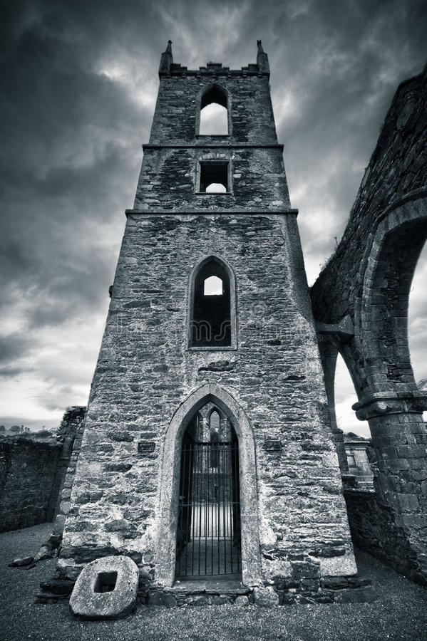 Download Ruin in dark mood stock image. Image of hunted, landscape - 16341533