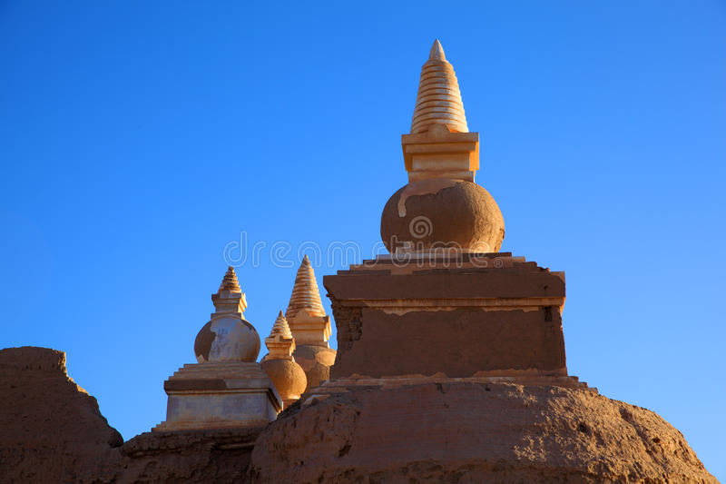 The ruin in desert royalty free stock photography