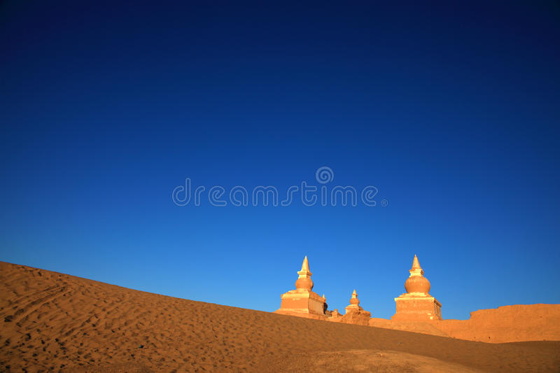 The Ruin In Desert Stock Photography