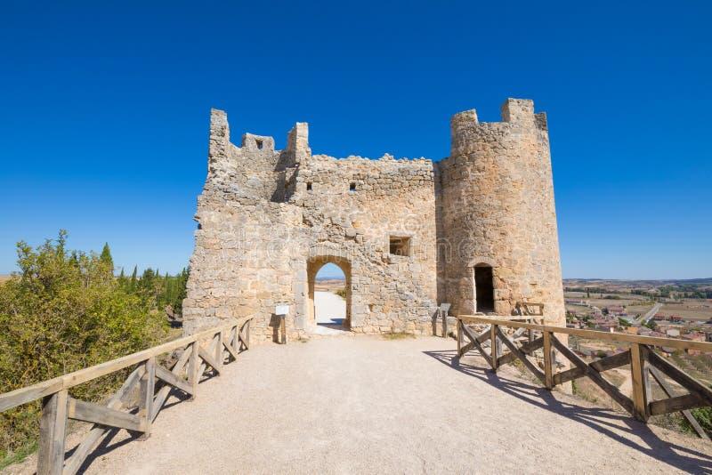 Ruin of the door in castle of Penaranda de Duero royalty free stock photography