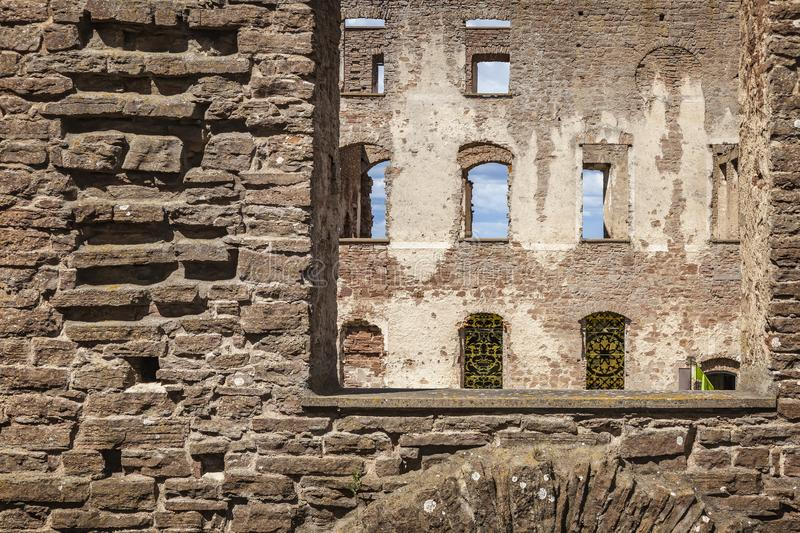 Borgholm fort walls. Ruin of a fortification in Borgholm, Sweden royalty free stock photography