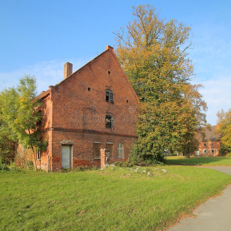 Download Ruin On Historical Manor Grounds In Stilow, Mecklenburg-Vorpommern, Germany. The Buildings Are Listed As Monuments Stock Photo - Image of chimney, desolate: 103812798