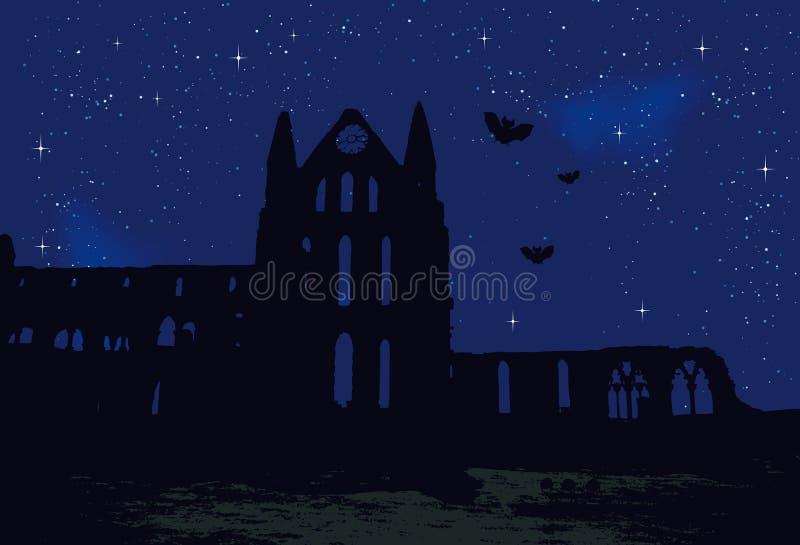 Ruin in the night