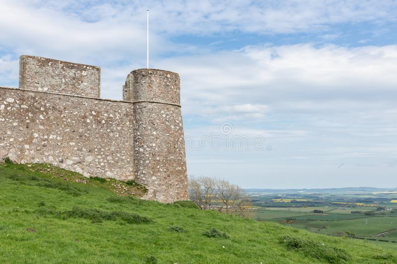 Ruin old castle in Scottish borders near Hume. Ruin of old castle in Scottish borders near Hume royalty free stock photography