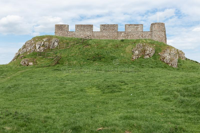 Ruin old castle in Scottish borders near Hume. Ruin of old castle in Scottish borders near Hume stock images