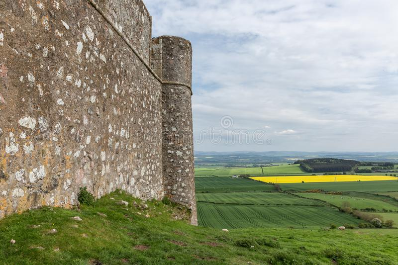 Ruin old castle in Scottish borders near Hume. Ruin of old castle in Scottish borders near Hume royalty free stock photos