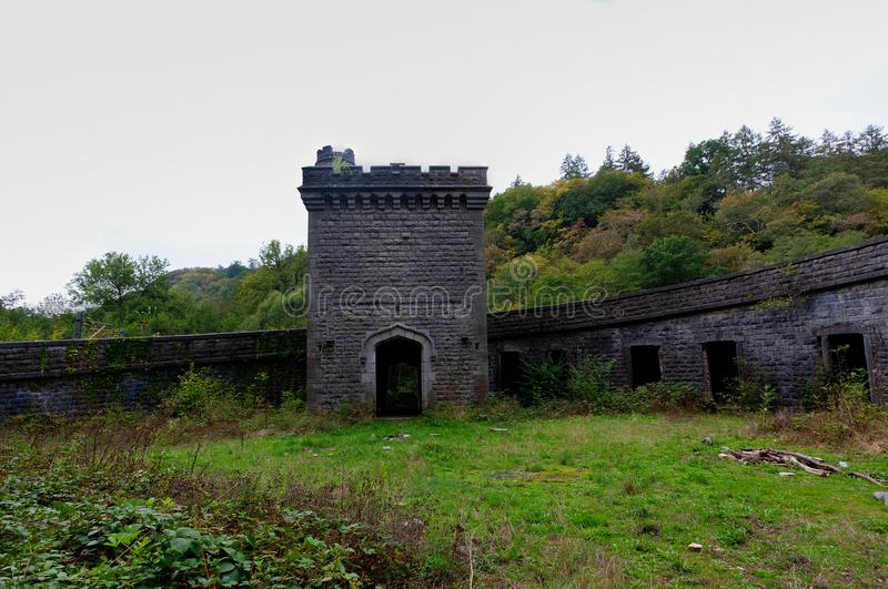 Ruin railway station Station Château Royal d`Ardenne, Houyet, Belgiumi royalty free stock photo