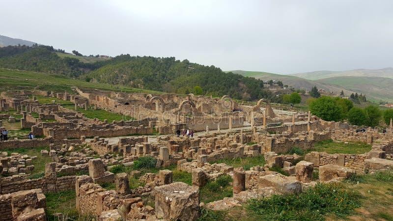 Ruin& x27; s-Dorf von Djemila, Algerien stockfotografie