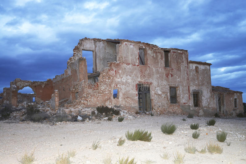 Download Ruin at sundown stock image. Image of destroyed, building - 36893529