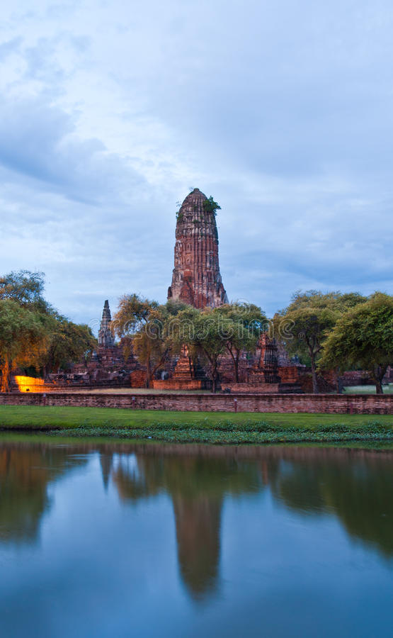 Download Ruin Temple In Ayutthaya With Lake Horizontal Stock Image - Image of sacred, buddhism: 20806751