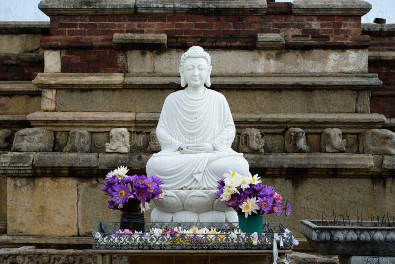 Ruina de Anuradhapura, Sri Lanka foto de archivo