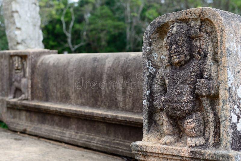 Ruina de Anuradhapura, Sri Lanka fotografía de archivo