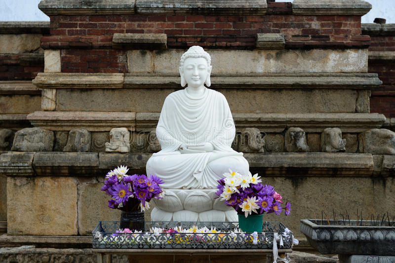 Ruina de Anuradhapura, Sri Lanka fotos de archivo