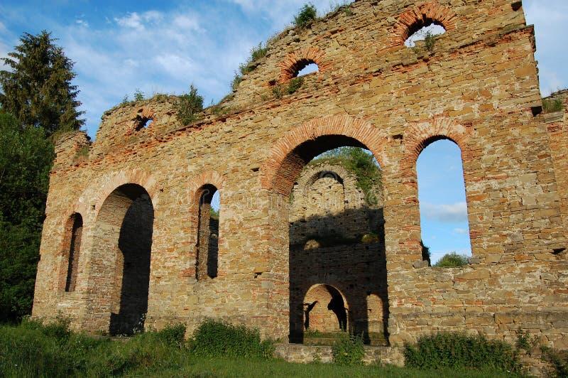 Ruina de la planta de fundición, Frantiskova Huta, Eslovaquia imagenes de archivo