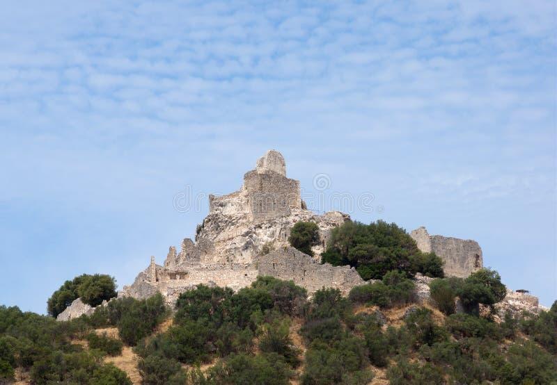 Ruina de un castillo imagen de archivo