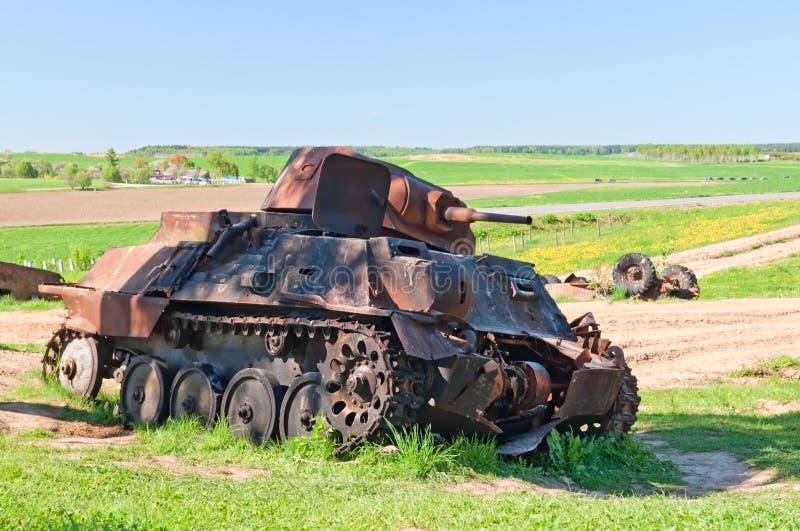 Ruina del tanque de batalla fotos de archivo libres de regalías