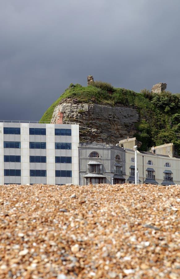 Ruina del castillo de Hastings foto de archivo libre de regalías