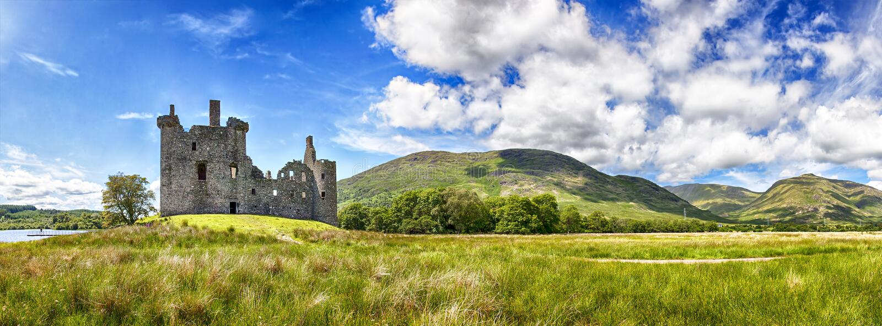 Ruina del castillo de Kilchurn imágenes de archivo libres de regalías