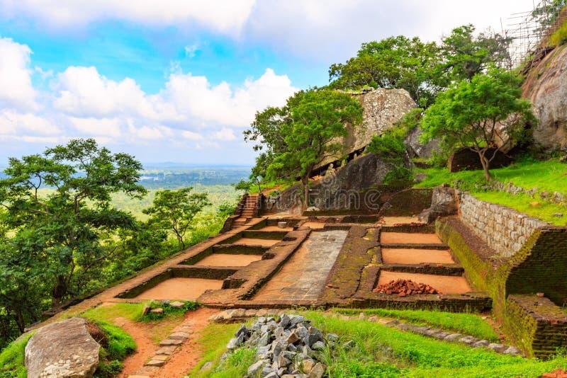 Ruina del castillo de Sigiriya imágenes de archivo libres de regalías