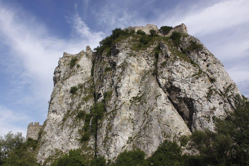 Ruina del castillo Devin foto de archivo libre de regalías