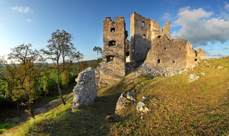 Ruina del castillo Hrusov fotografía de archivo libre de regalías