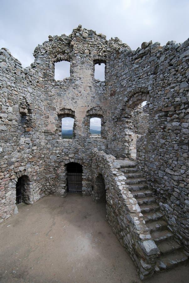 Ruina del castillo Hrusov foto de archivo libre de regalías