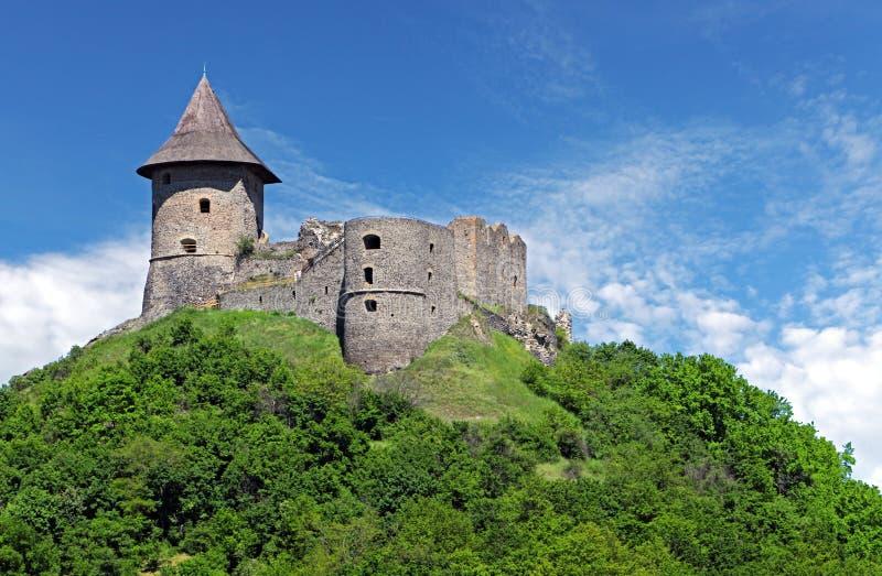 Ruina del castillo Somoska, Eslovaquia fotografía de archivo