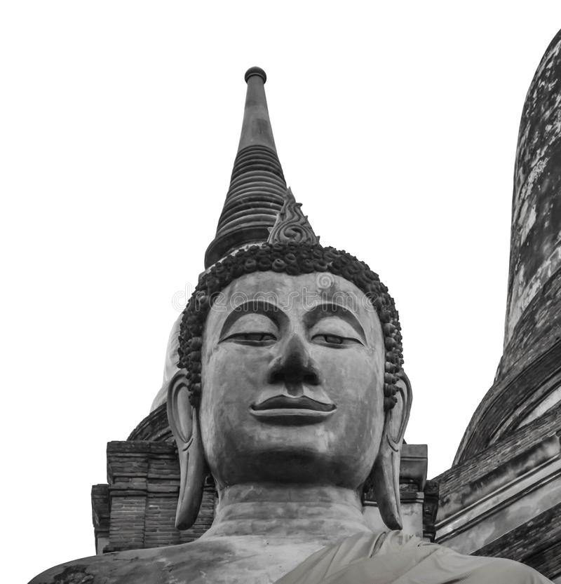 Ruina del templo antiguo de Buda en Tailandia imagenes de archivo