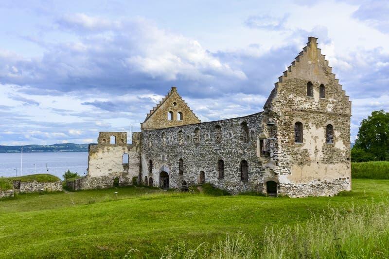 Ruina en Visingso, una isla del castillo de Visingsborg en Suecia. fotografía de archivo libre de regalías