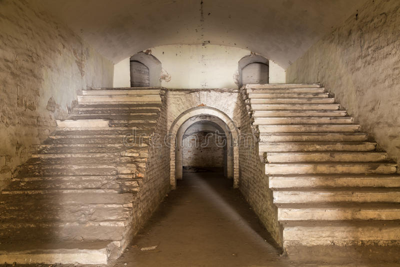 Ruina fort Tarakanovskiy Dubno Ukraina fotografia stock